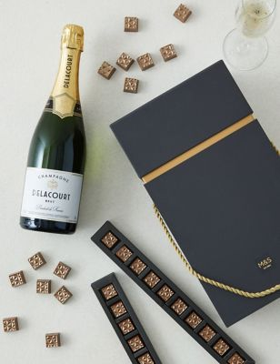 Champagne & Salted Caramel Chocolates Gift Box