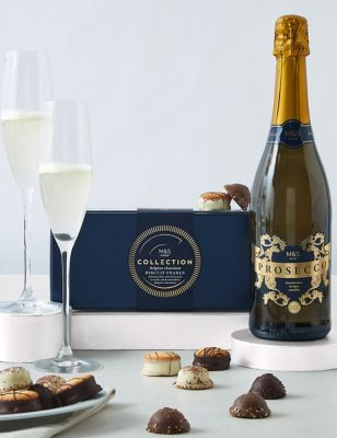 Collection Prosecco & Belgian Chocolate Pearls Gift Set