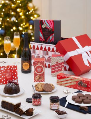 Classic Christmas Gift Box with Fizz (Delivery from 4th November 2021)