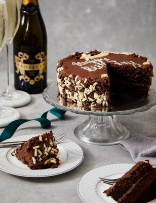 Chocolate Birthday Cake & Prosecco