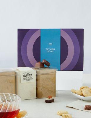 Get Well Soon Chocolates, Tea & Shortbread