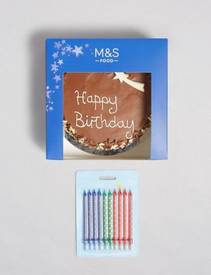 Chocolate Birthday Cake with Candles Gift