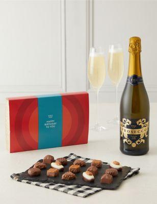 Happy Birthday Chocolates & Prosecco