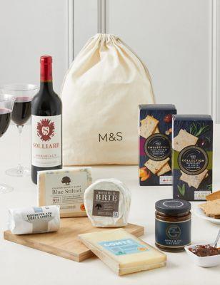 Wine & Artisan Cheese Gift Selection Platter