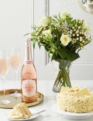 Celebrate in Style Bouquet with Cake & Prosecco