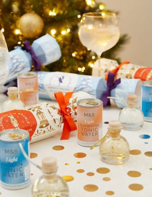 Snow Globe Gin Liqueur Christmas Crackers Gift Set (Delivery from November 2021)