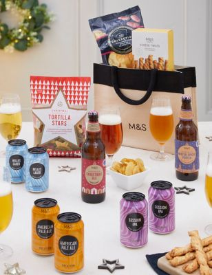 Christmas Beer & Snacks Gift Bag (Delivery from 4th November 2021)