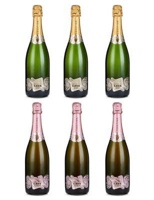 Mixed Case of Classic Cava & Rosé Cava - Case of 6