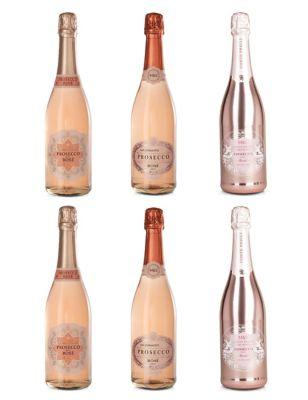 Prosecco Rosé Mixed Case - Case of 6