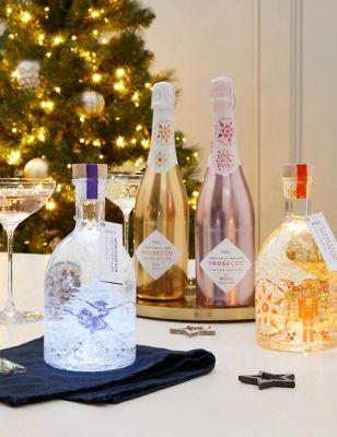 Light up Snow Globe Gin Liqueur & Conte Priuli Prosecco Mixed Case - Case of 6