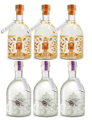Light up Snow Globe Gin Liqueur Mixed Case - Case of 6