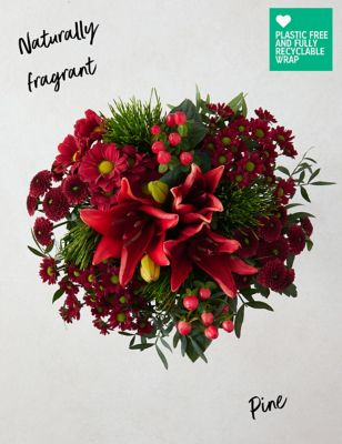 Ready To Arrange Perfect Christmas Bouquet (Delivery from 18th November 2021)