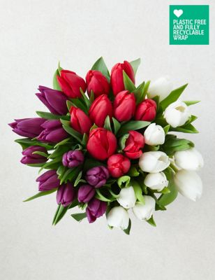 Ready To Arrange Mixed Colour Tulips Bouquet (Delivery from 18th November 2021)