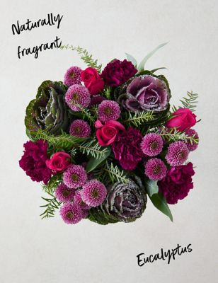 Winter Brassica & Rose Bouquet (Delivery from 18th November 2021)