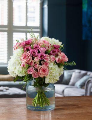 Vintage Hydrangea & Rose Bouquet