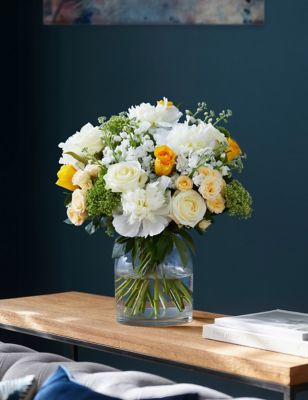 White Rose & Peony Bouquet