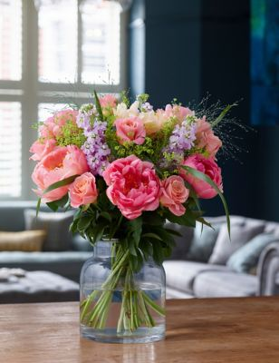 Coral Rose & Peony Bouquet