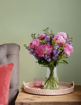 British Peony & Stock Bouquet
