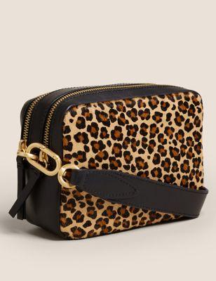 M&S Womens Leather Cross Body Camera Bag - 1SIZE - Metallic, Metallic,Brown Mix,Black,Tan