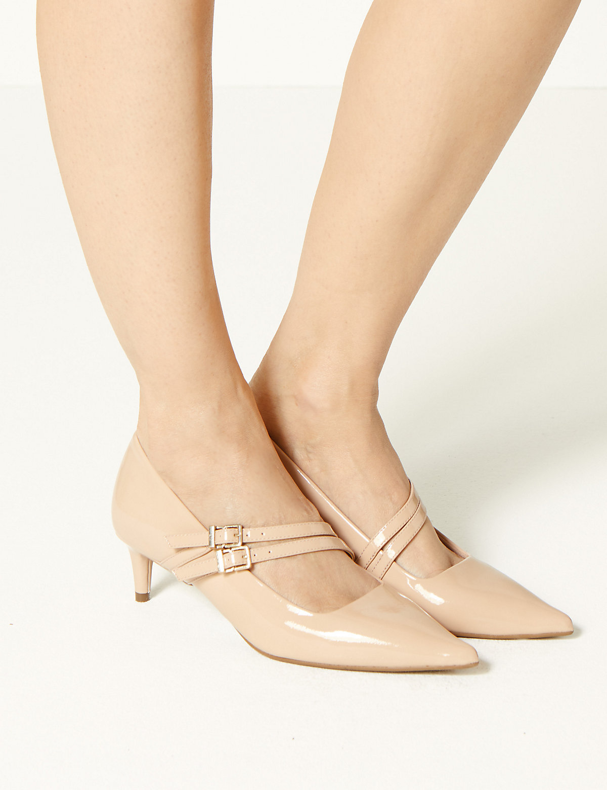 M&S Collection Kitten Heel Court Shoes