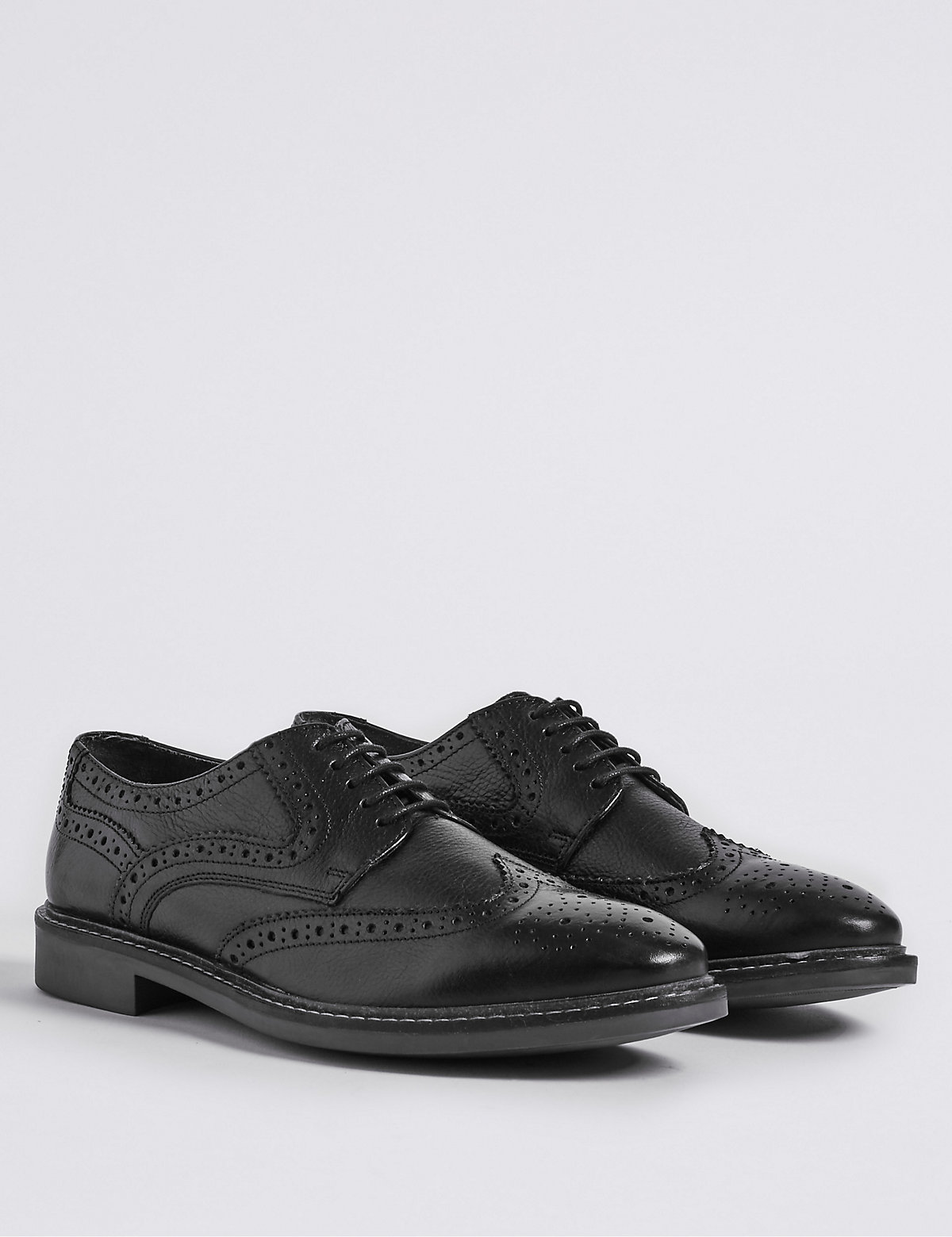 Autograph Big & Tall Leather Red Sole Brogue Shoes