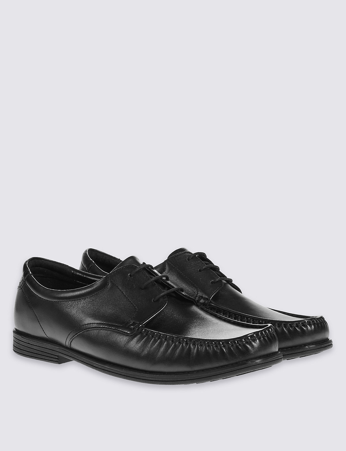 Leather 3 Eyelet Apron Laceup Shoes