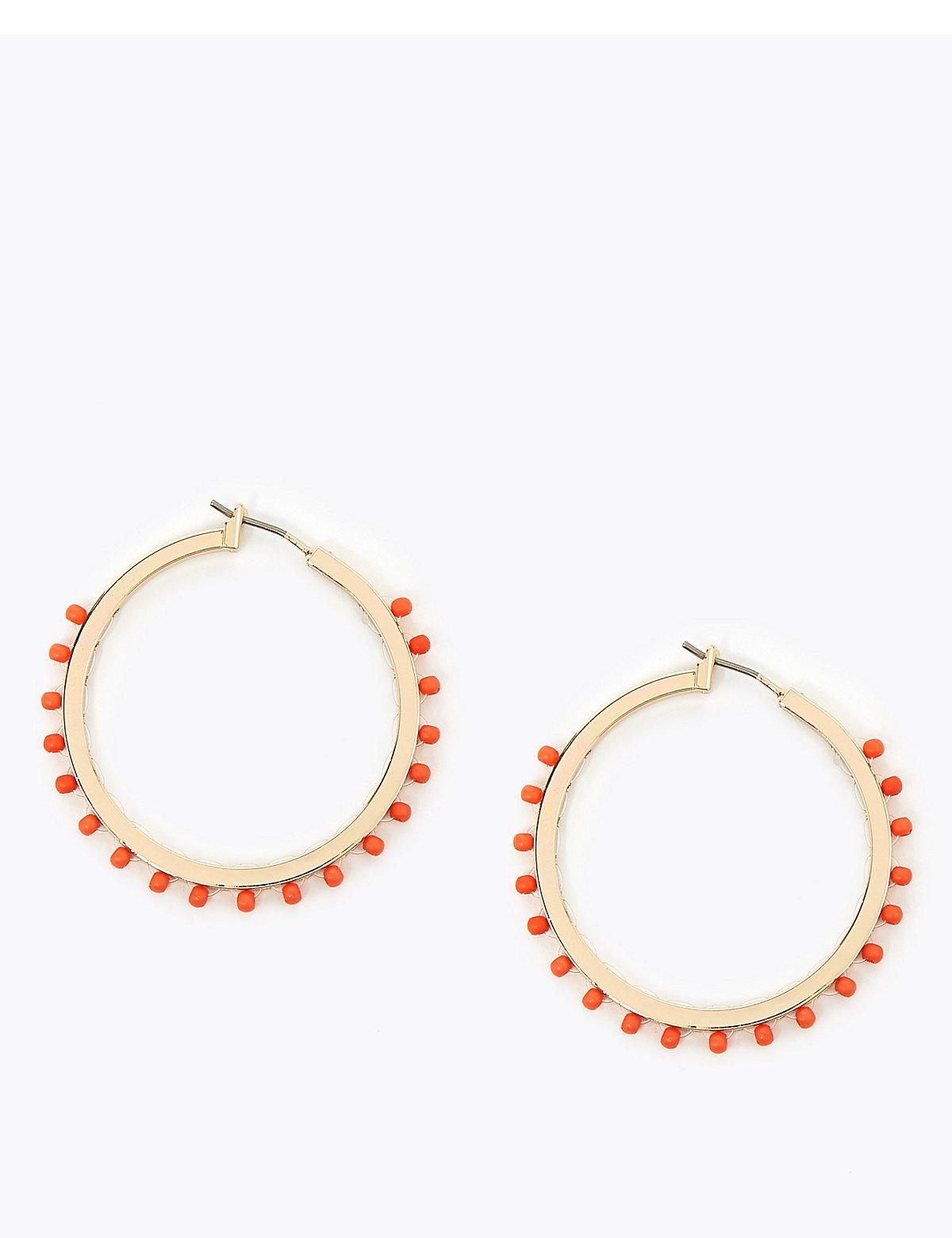 Per Una Bobble Detail Hoop Earrings
