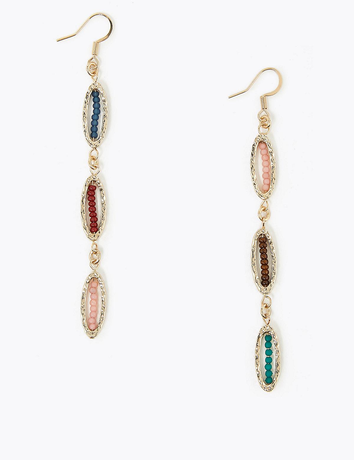 Per Una Beaded Loop Drop Earrings