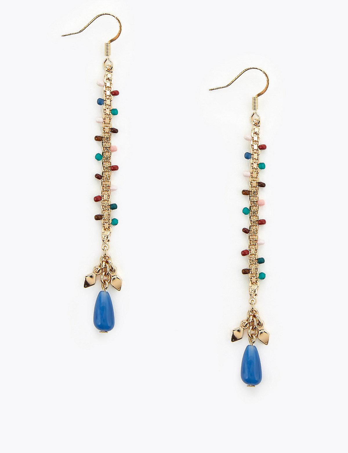 Per Una Beaded Scale Drop Earrings