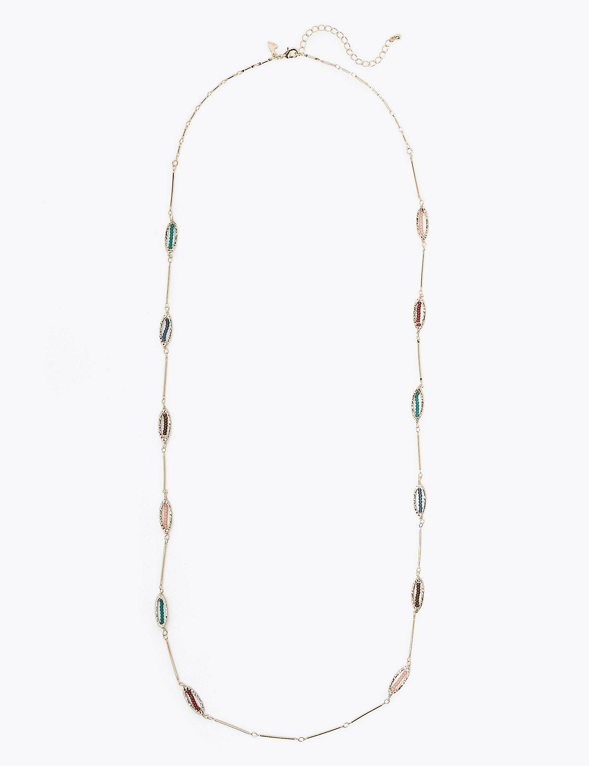 Per Una Beaded Loop Rope Necklace