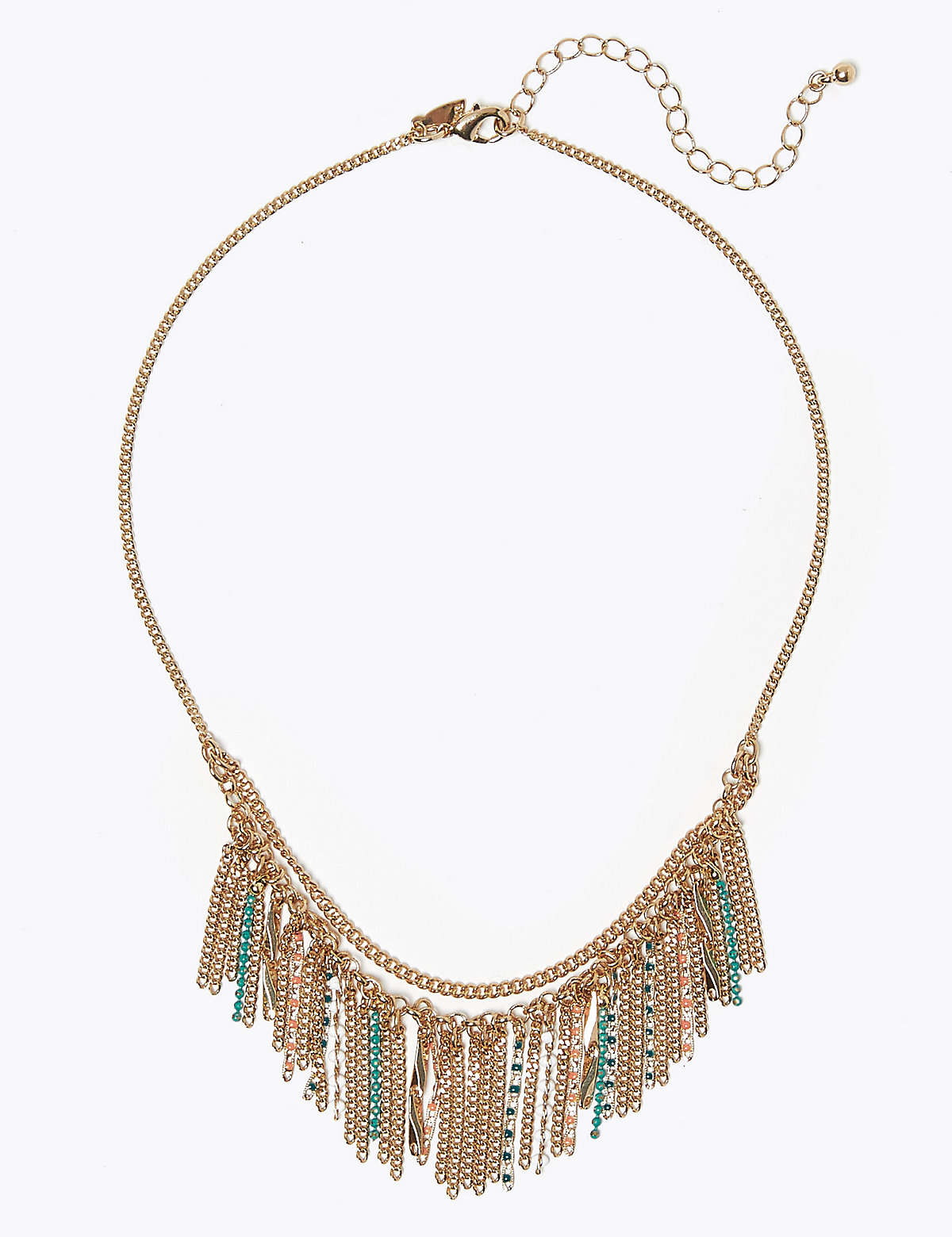 Per Una Beaded Waterfall Necklace