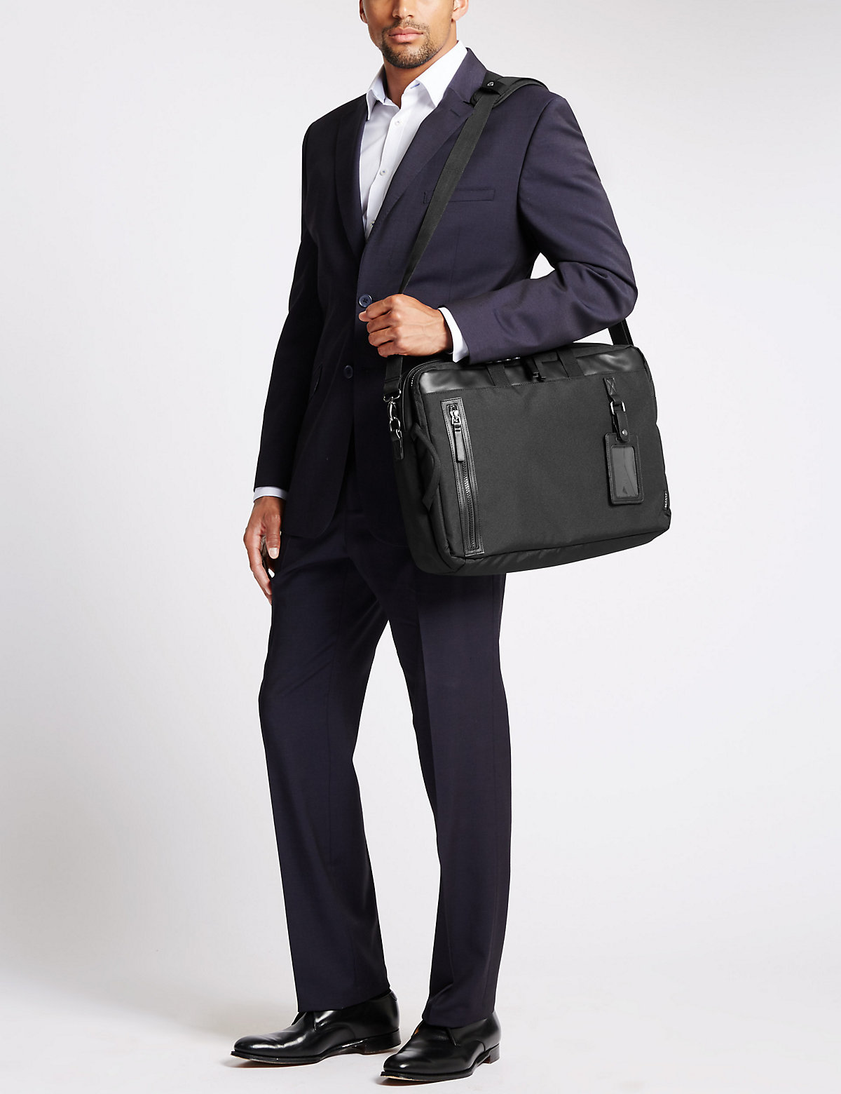 M&S Collection Cordura Multifunctional Laptop Bag & Concealed Rucksack