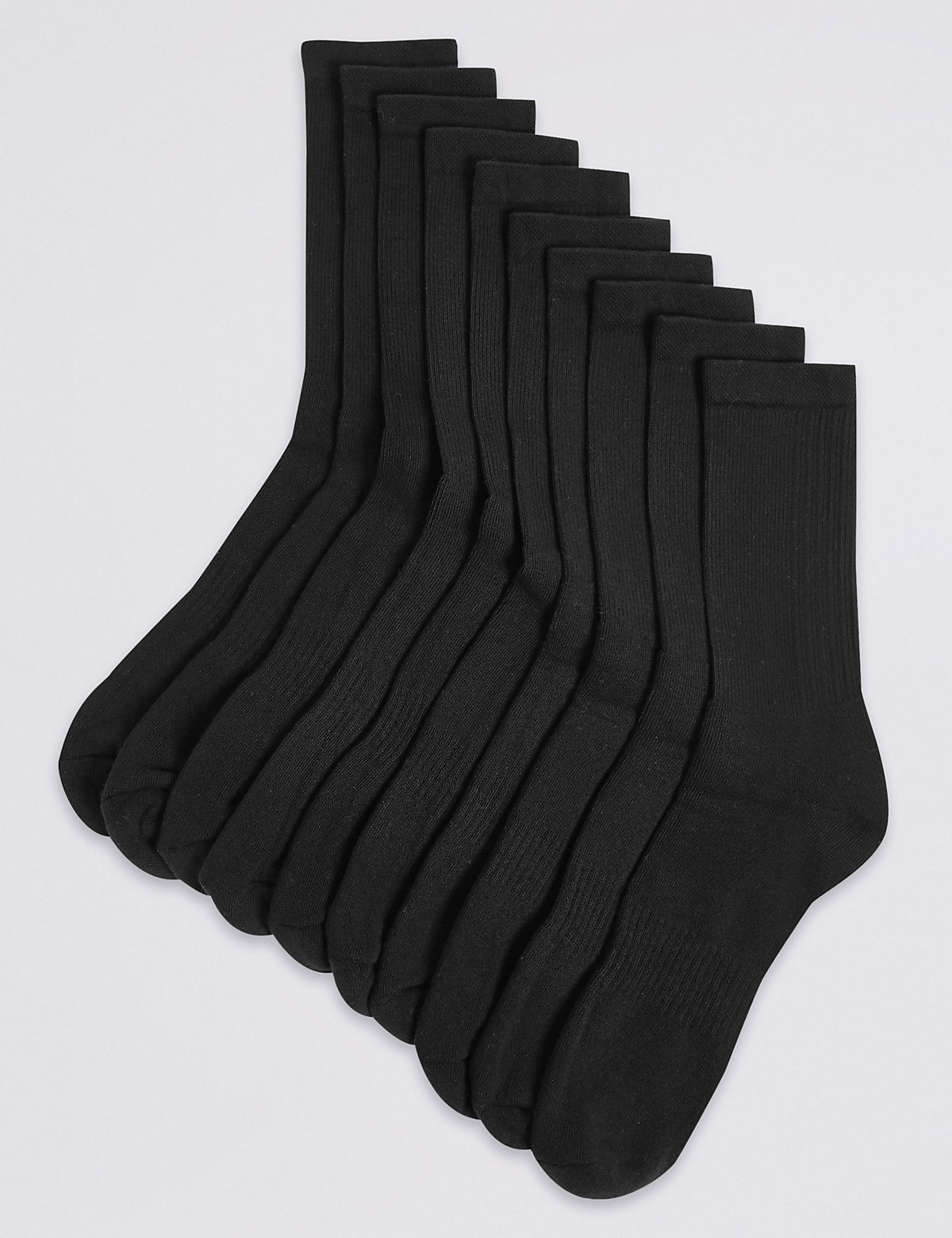 M&S Collection 10 Pack Cool & Fresh Cushioned Sports Socks