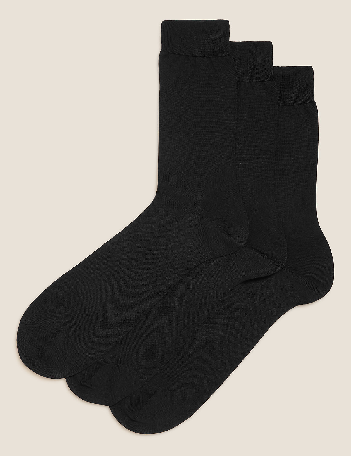 M&S Collection Luxury 3 Pack Luxury Cotton Socks