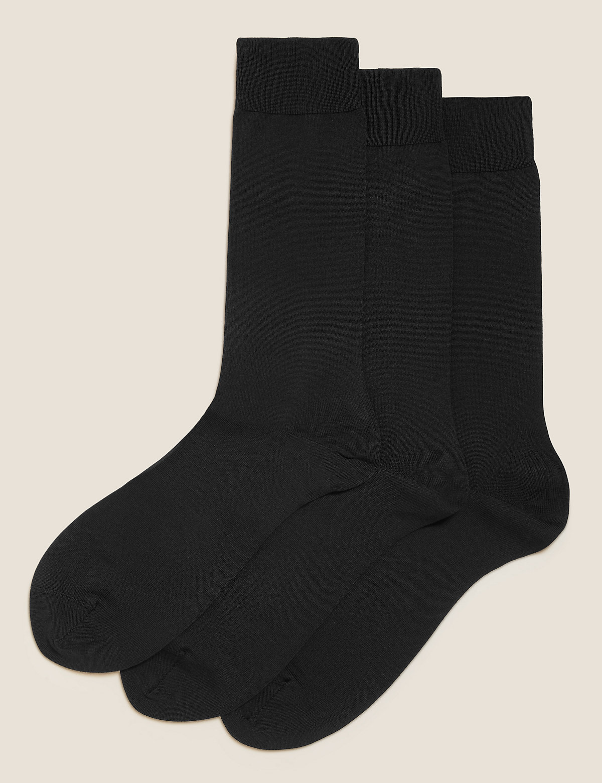 M&S Collection Luxury 3 Pack Luxury Egyptian Cotton Socks