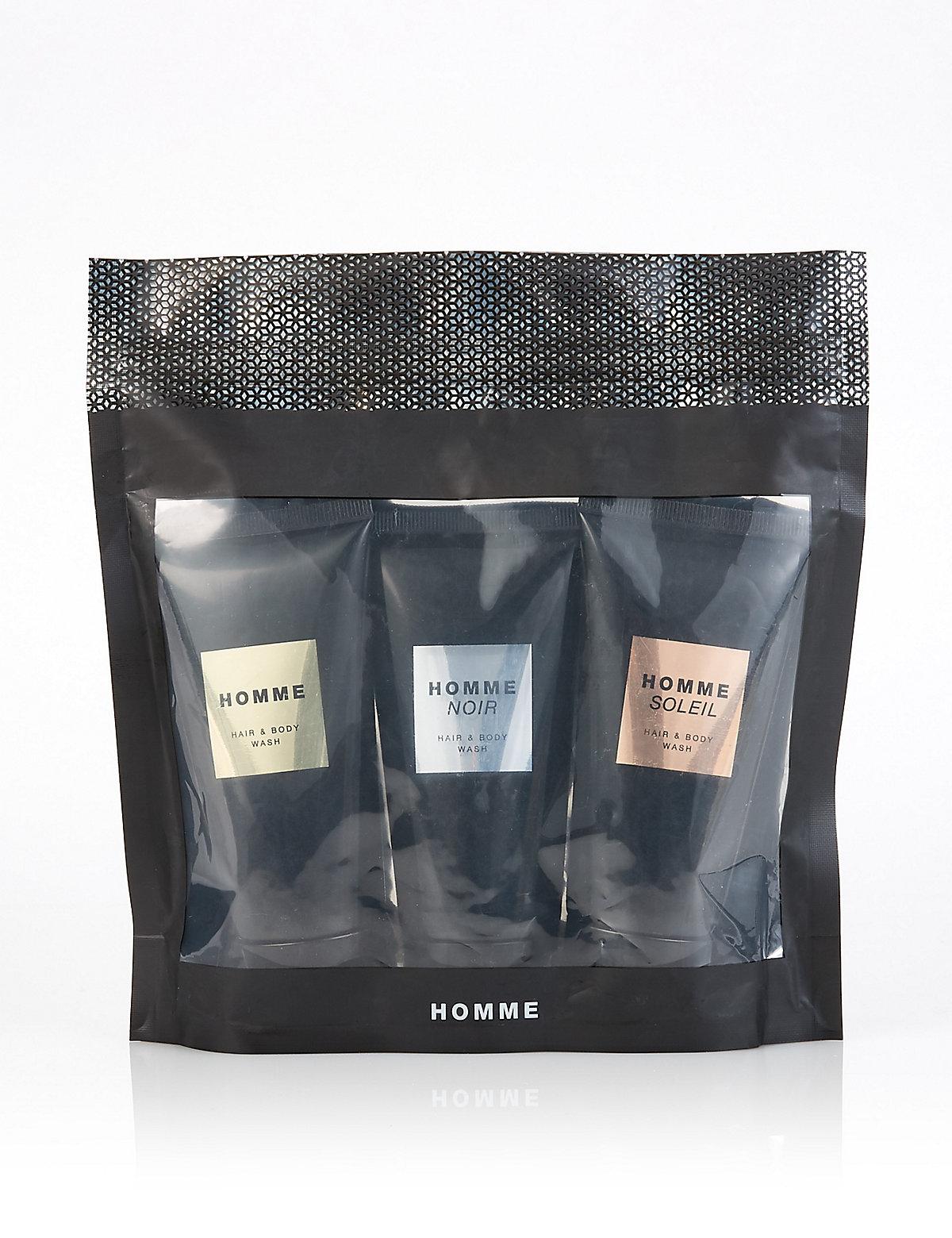 Homme Shower Gel Trio Gift Set