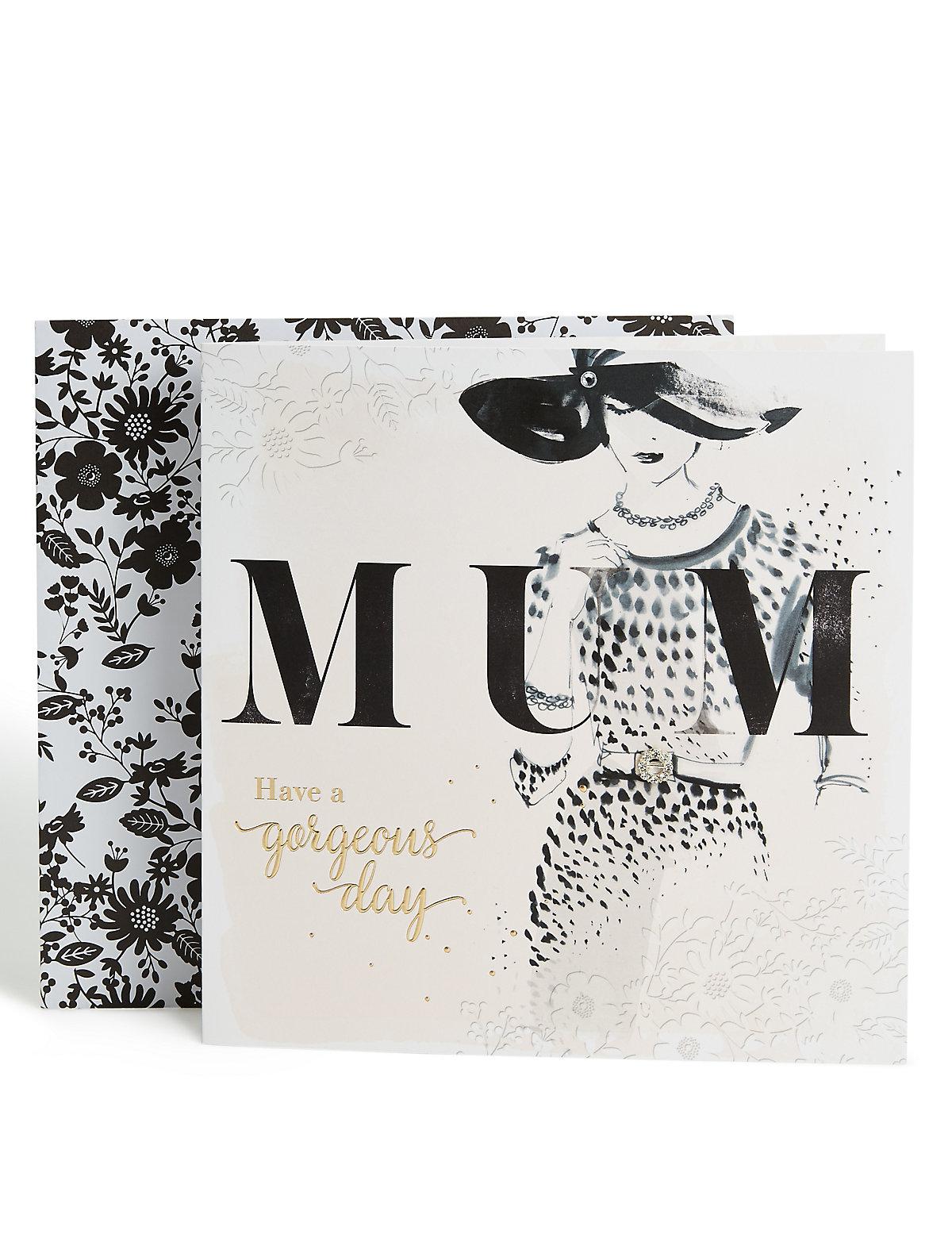 Sophisticated Lady Happy Birthday Mum Card