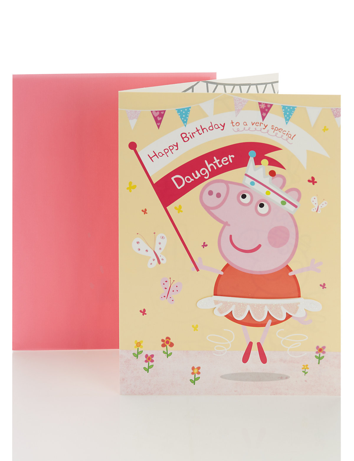 Peppa Pig ColourIn Happy Birthday Card For Daughter