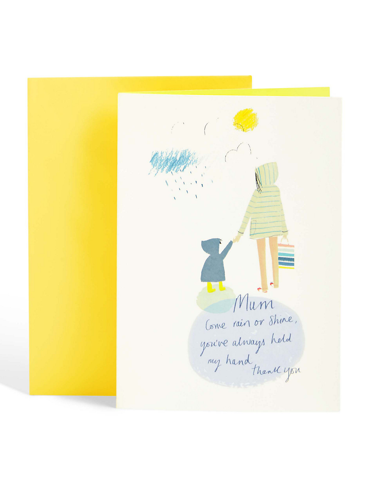 Always Held My Hand Mothers Day Card