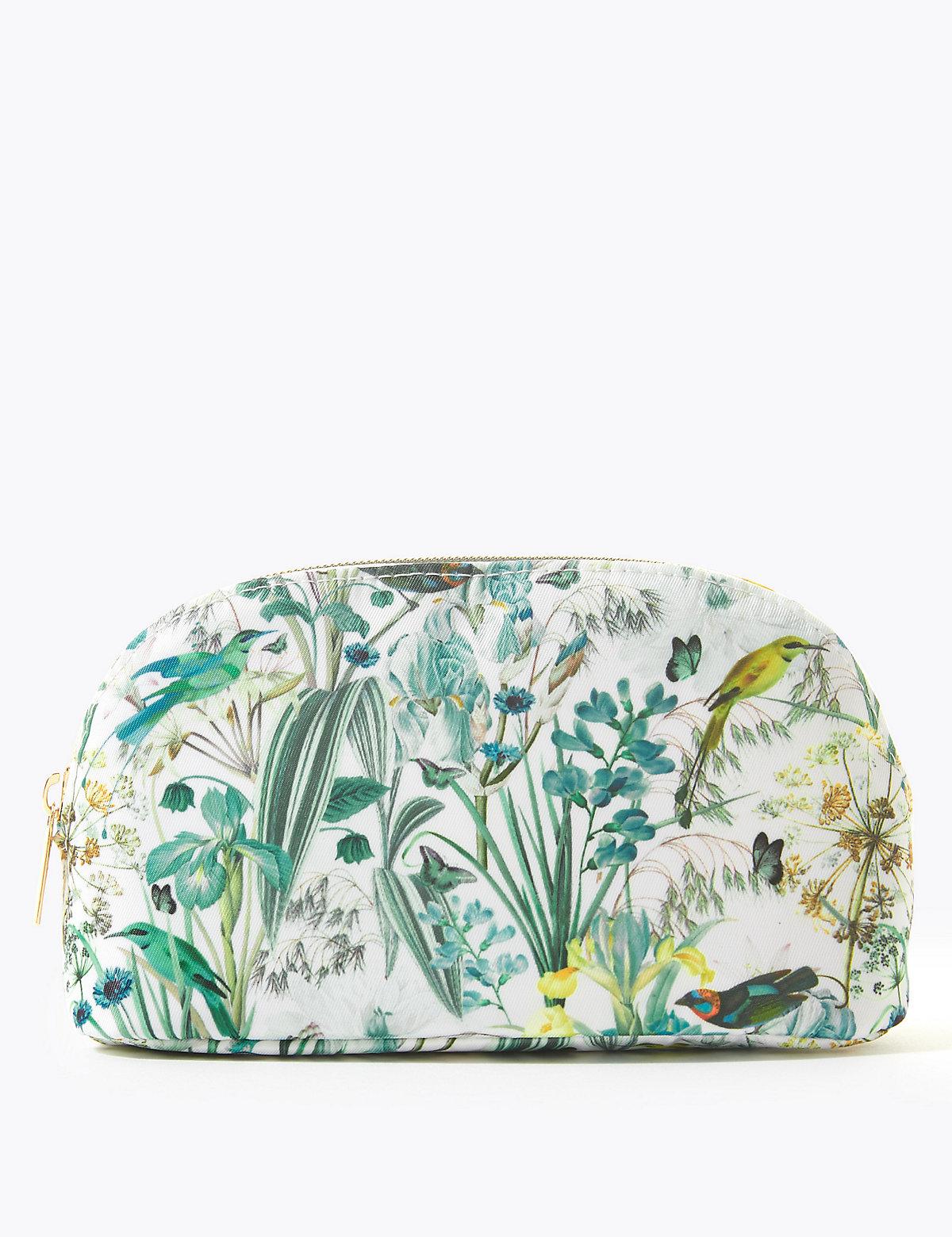 Florentyna Printed Botanical Make-up Bag