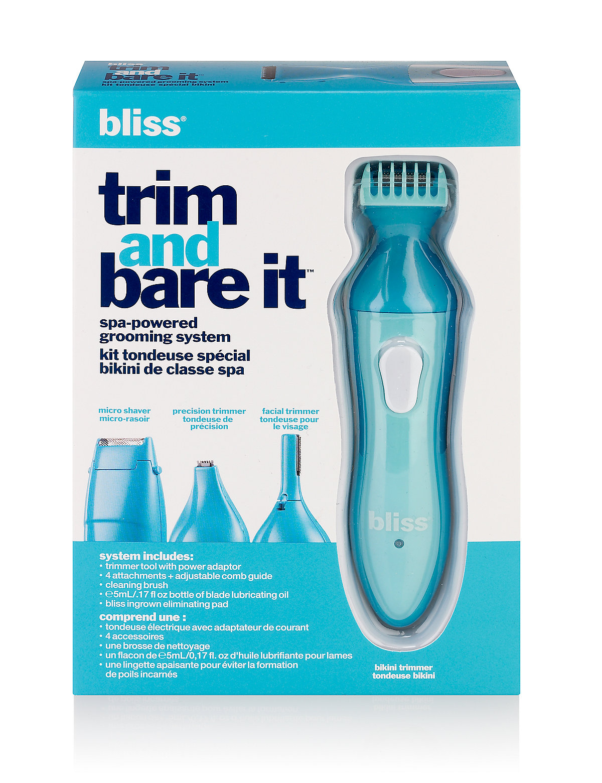 bliss Trim & Bare It Grooming System