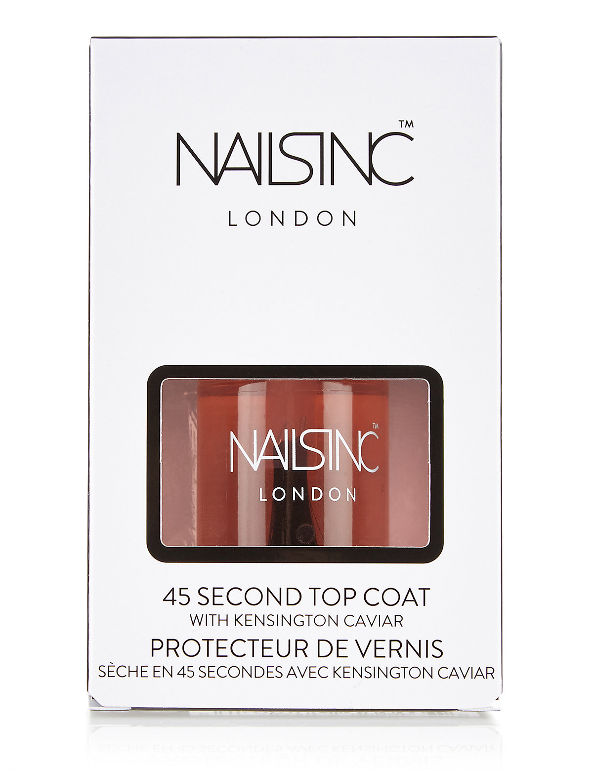 Nails Inc. 45 Seconds Top Coat with Kensington Caviar 10ml