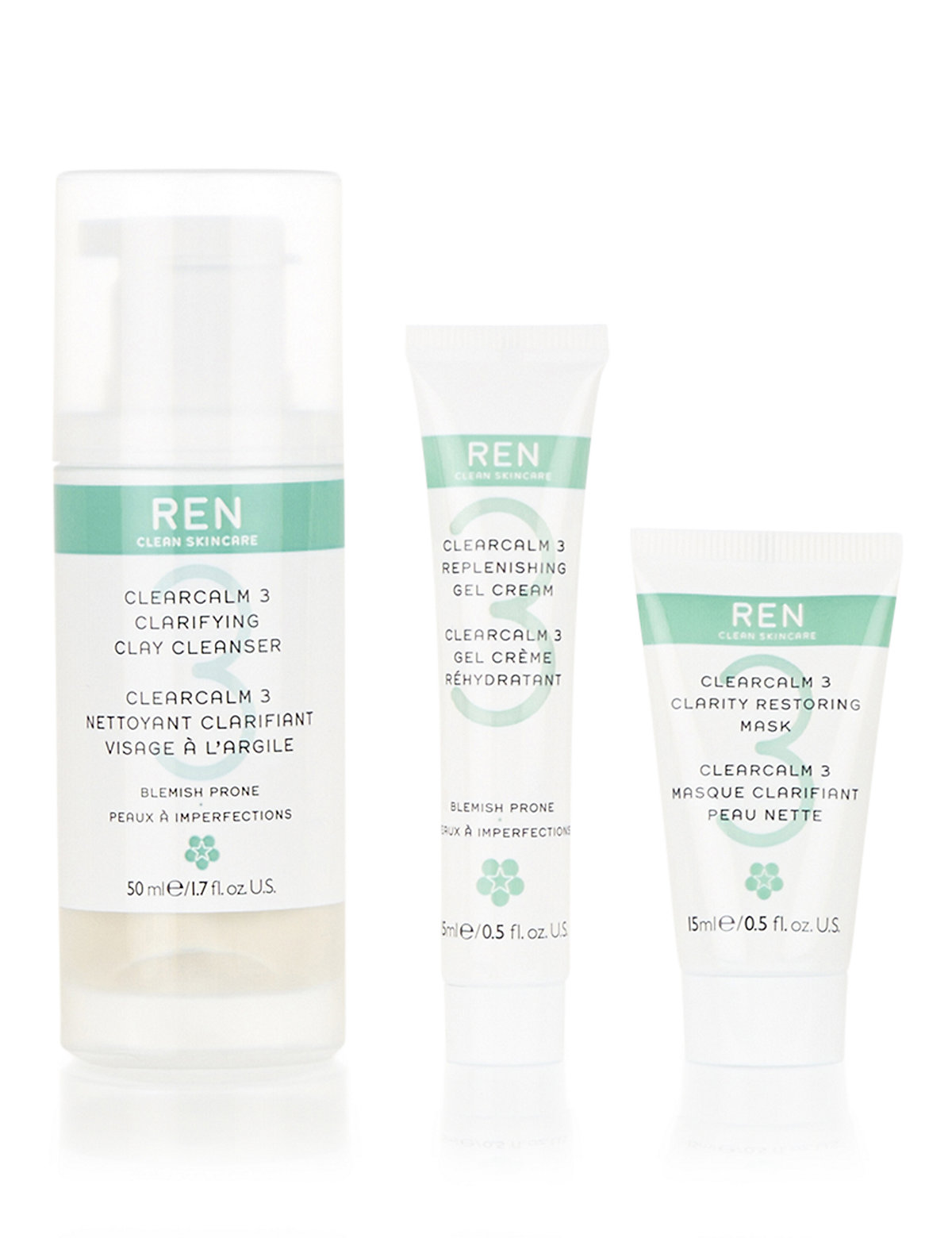 REN Hit The Spot Regime Kit for Blemish Prone Skin Worth £23.00