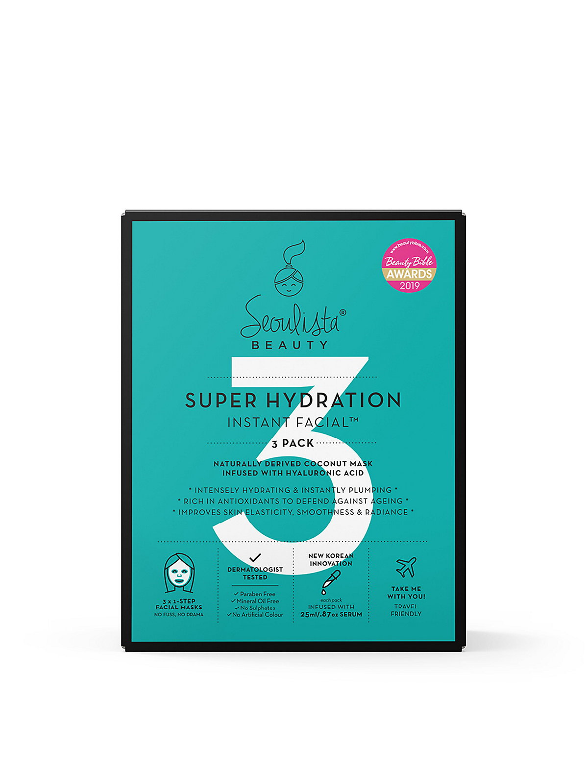 Seoulista Beauty Super Hydration Instant Facial Multipack (3 Masks)