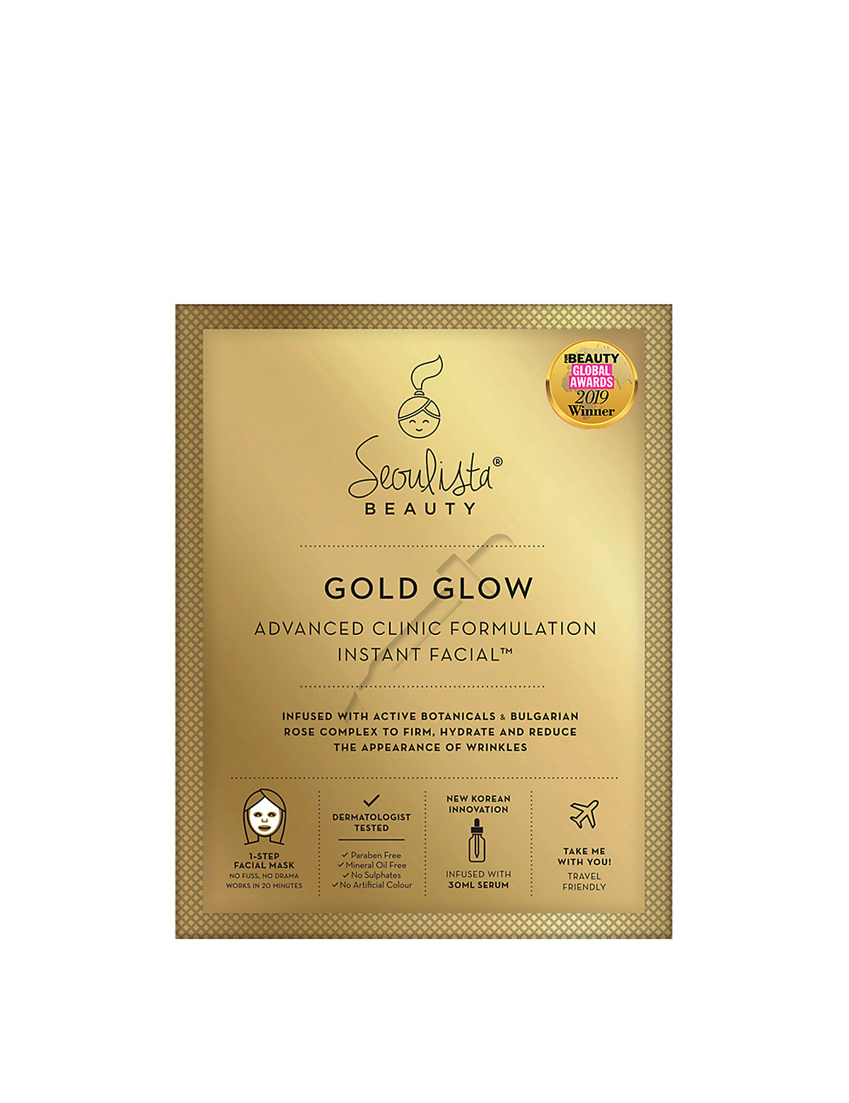 Seoulista Beauty Gold Glow Mask Instant Facial