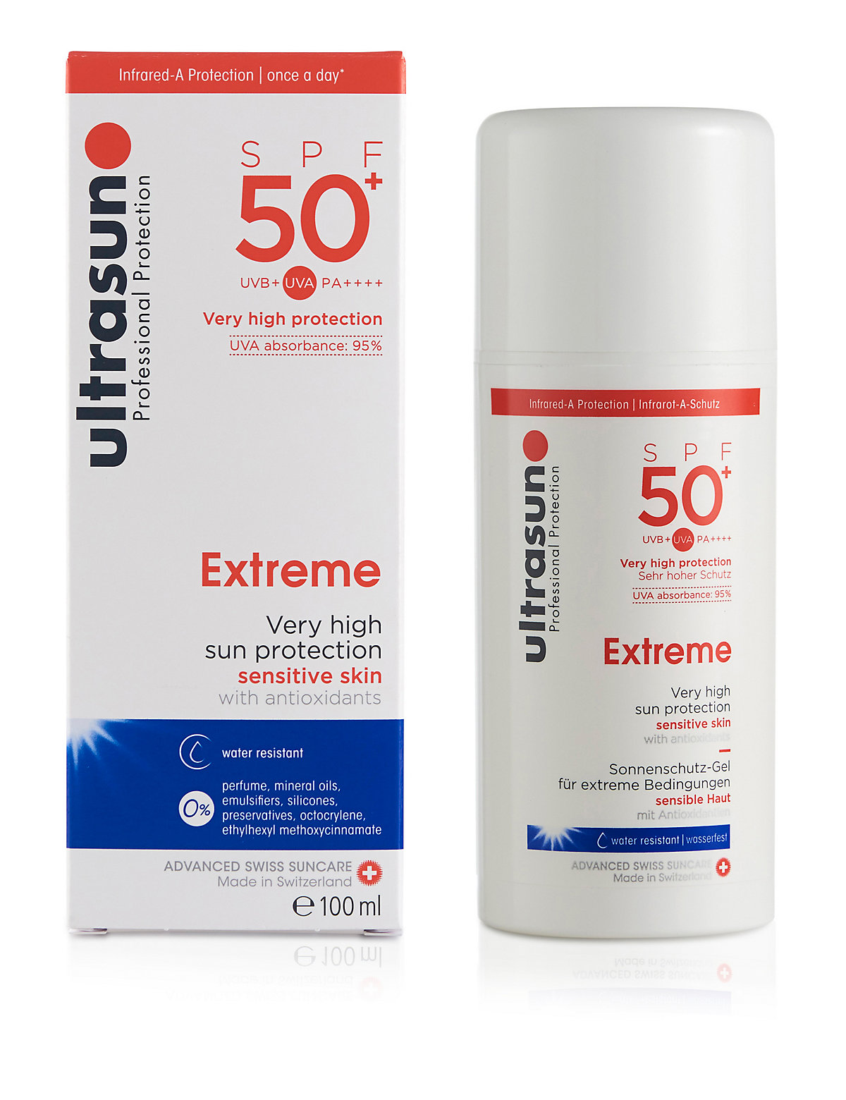 Ultrasun Very High Protection Sun Cream for Ultra Sensitive Skin SPF50 100ml