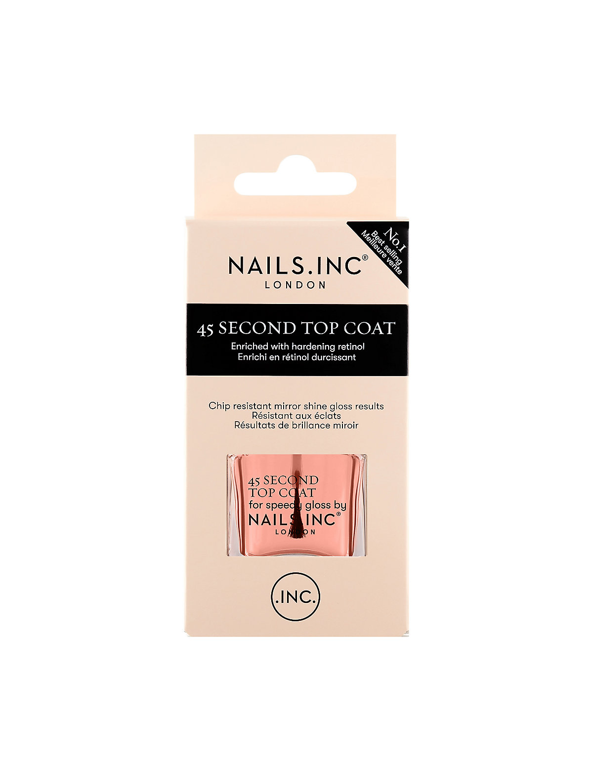 Nails Inc. 45 Second Retinol Top Coat 14ml