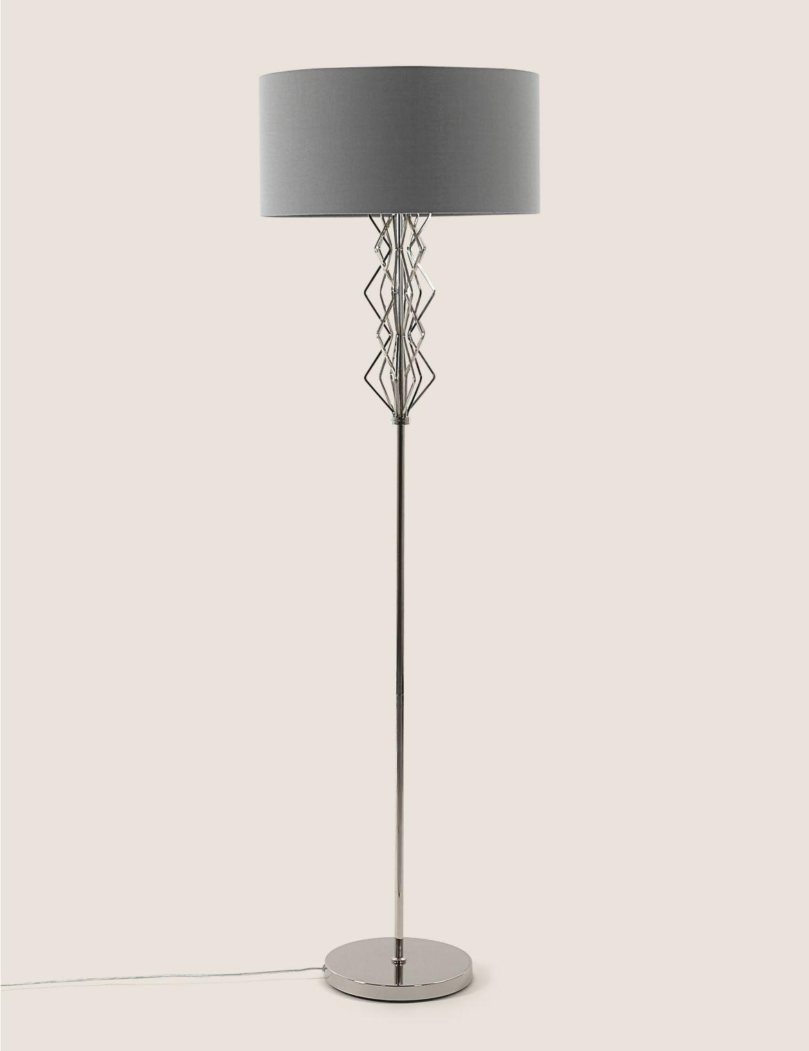 Sophia Floor Lamp Silver