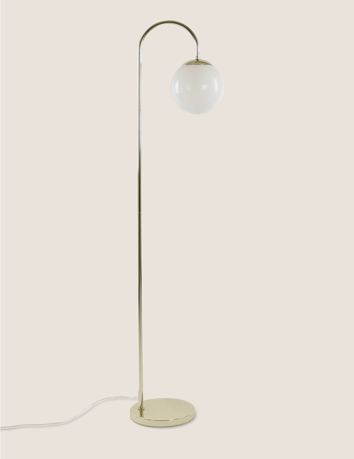 Opal Curved Floor Lamp White