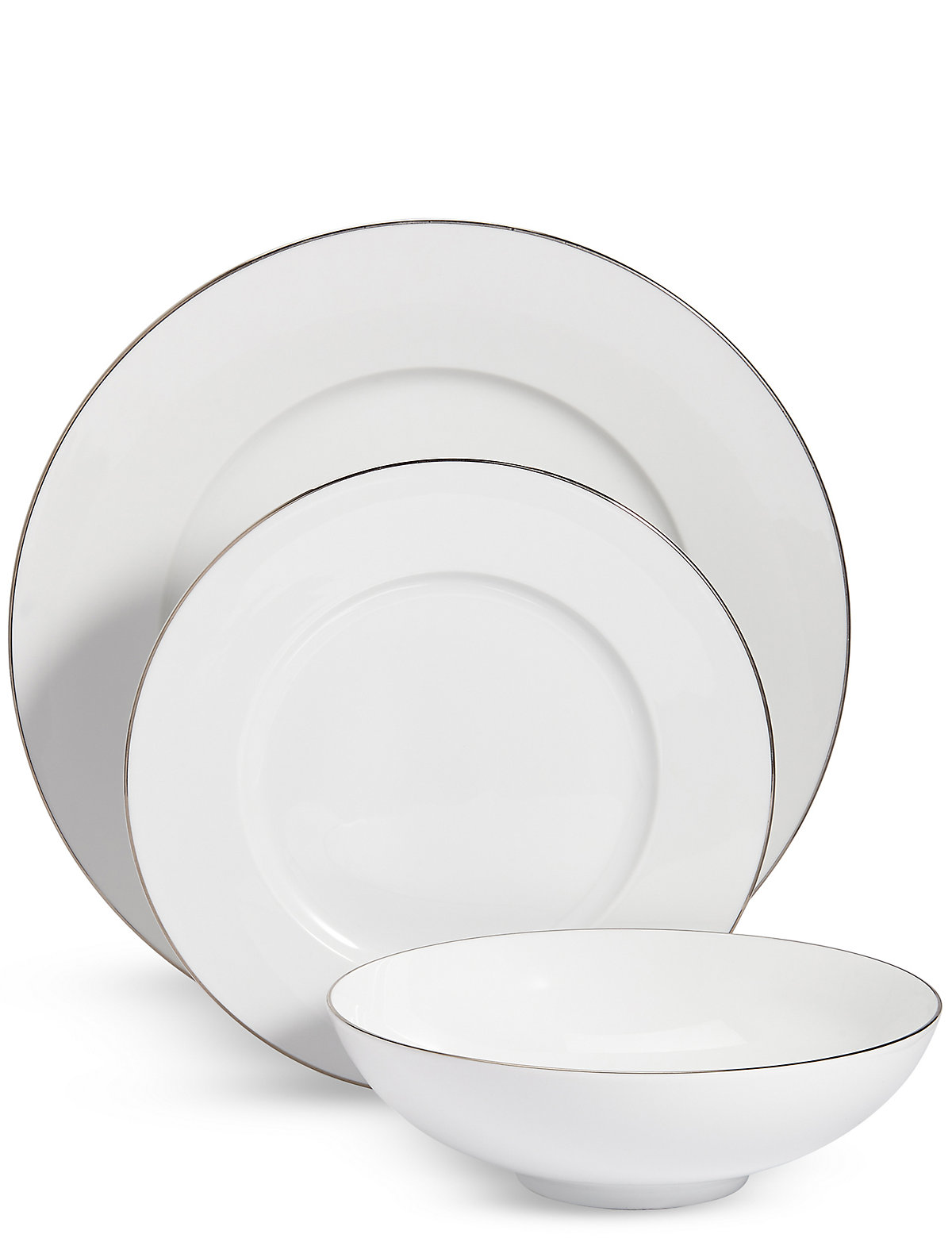 Image of 12 Piece Maxim Platinum Dinner Set